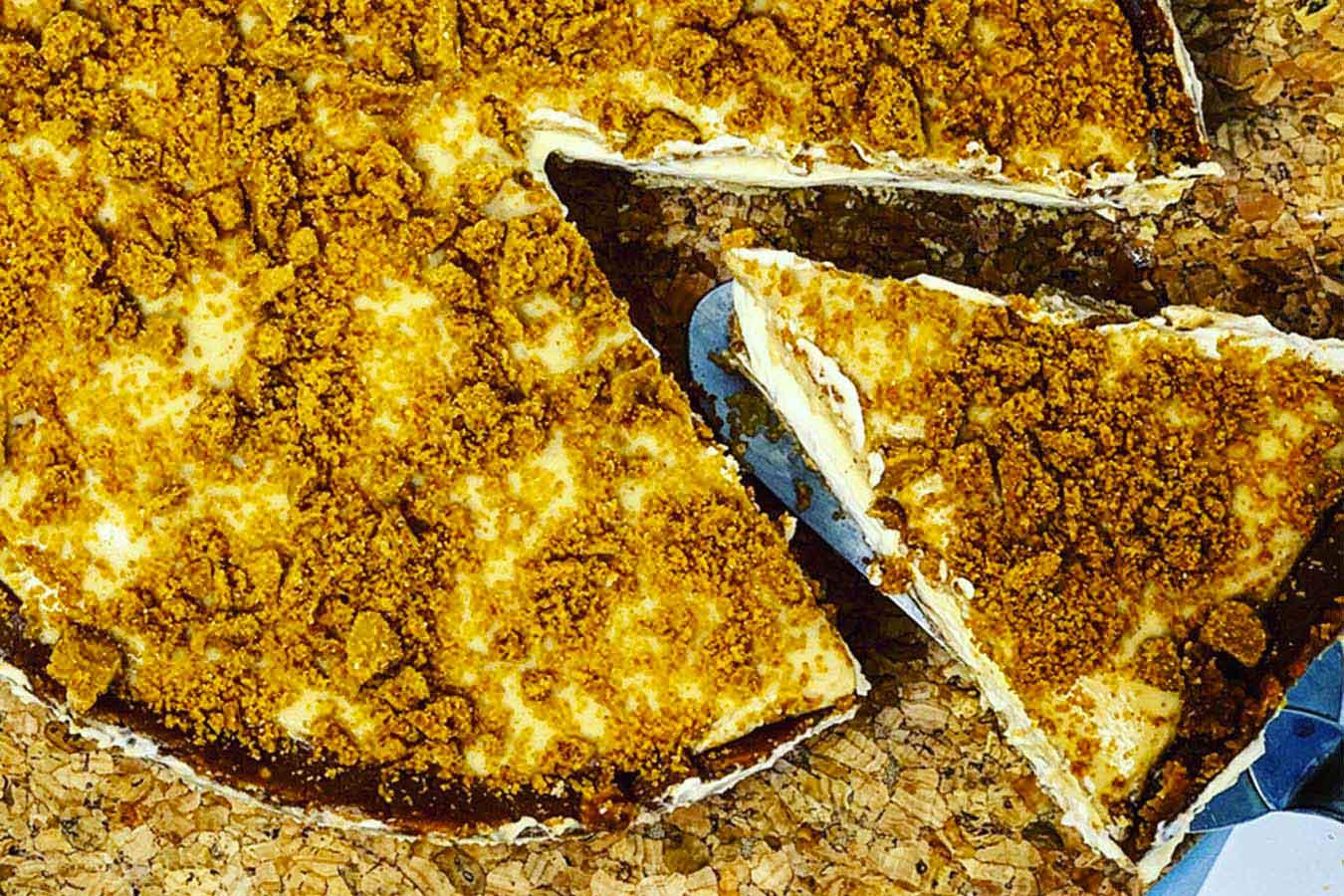 Cheesecake fredda al burro di arachidi e biscotti Lotus