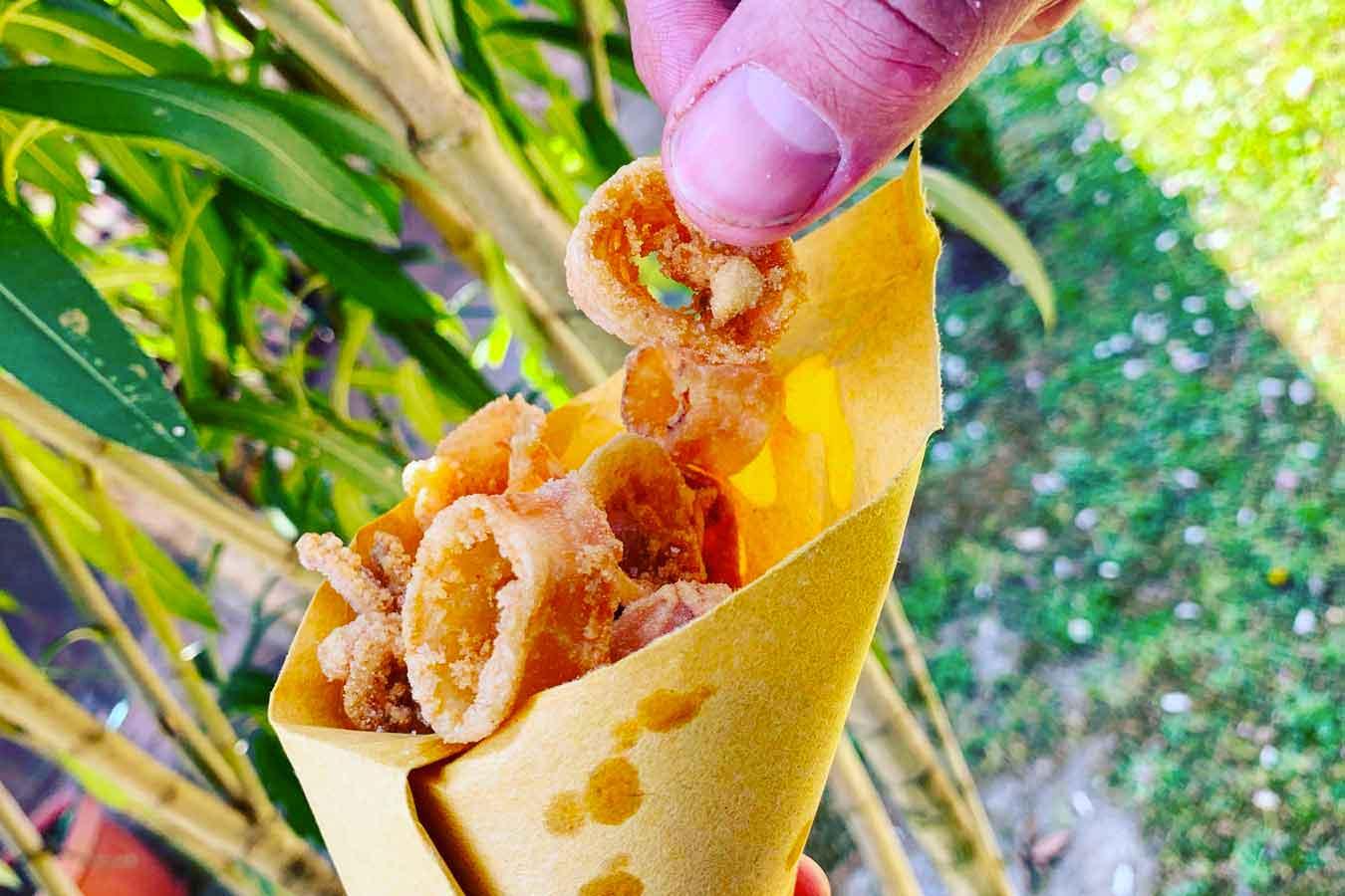 Cuoppo di calamari fritti